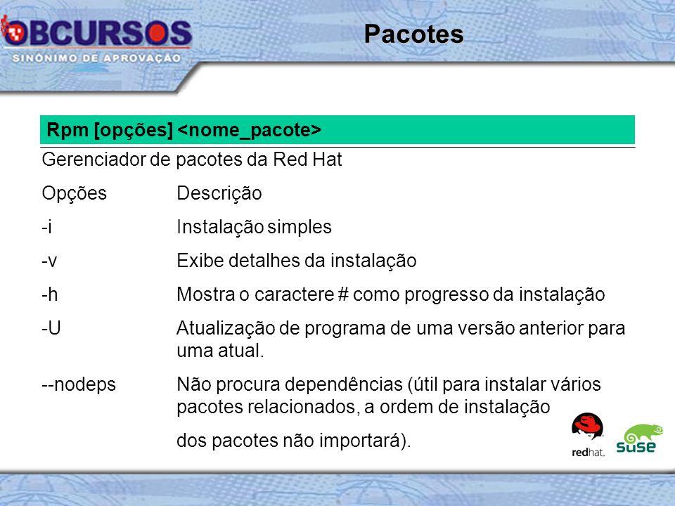 Pacotes Rpm [opções] <nome_pacote>